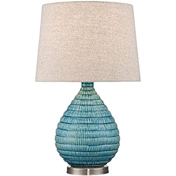 Merveilleux Kayley Blue Ceramic Table Lamp