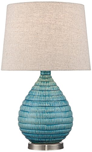 Kayley Blue Ceramic Table Lamp by 360 Lighting