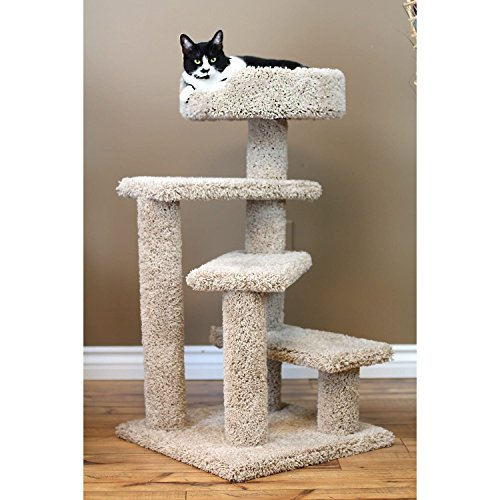 New Cat Condos Carpet/Wood 36-inch Spiral Cat Tree Beige