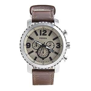 Reloj de pulsera hombre bq2101Fossil marrón piel Cronógrafo Idea regalo