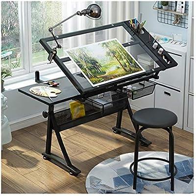 Mesa de Dibujo,Mesa Ajustable Escritorio de Dibujo for Arte ...