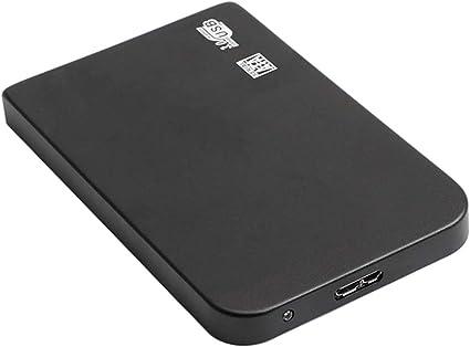 外付けハードドライブ USB 3.0 SATA HDD 高速 2.5インチ 金属 ブラック - 500GB
