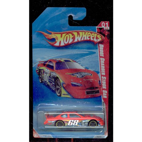 Dodge Charger Stock - Hot Wheels 2010-169/240 Race World Speedway 01/04 Dodge Charger Stock Car 1:64 Scale 1:64 Scale