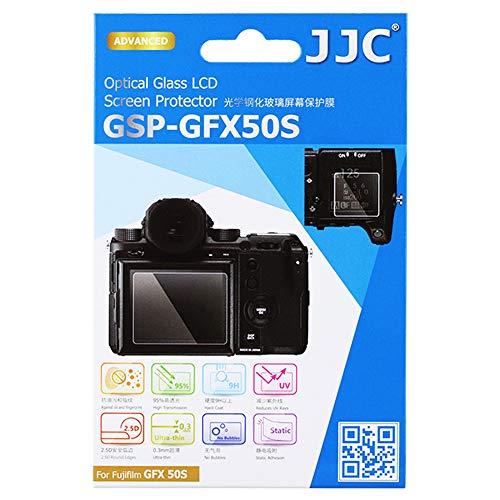 - JJC Dedicated Tempered Glass Screen Protector for Fuji Fujifilm GFX 50S, GFX 50R, GFX50S, GFX50R, 0.3mm Ultra-Thin / 9H Hardness / 2.5D Round Edges, w/ 2pcs PET Film Protector for Shoulder/Sub Screen