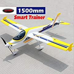 The Dynam Smart Trainer is a funky good looking airplane, with bright paint scheme and decals. The powerful 600KV brushless motor and 4S batteries provide enough power to do aerobatics such as vertical climbs, turning somersaults, flyi...
