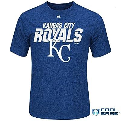 Kansas City Royals MLB Men's Winning Moment Synthetic Cool Base T-Shirt (Xlarge)