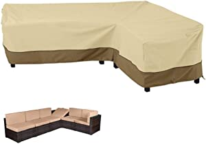 LBW L Shape Sectional Sofa Cover Right Facing Furniture Covers Garden Couch Cover Wear-Resistant Sectional Lounge Set Cover for Outdoor, 83