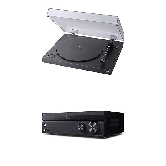 Sony PS-HX500 Plattenspieler (High-Resolution-Audio-Ripping-Funktion, Aufnahme Double-DSD Format) Schwarz + AV Receiver (7.2-