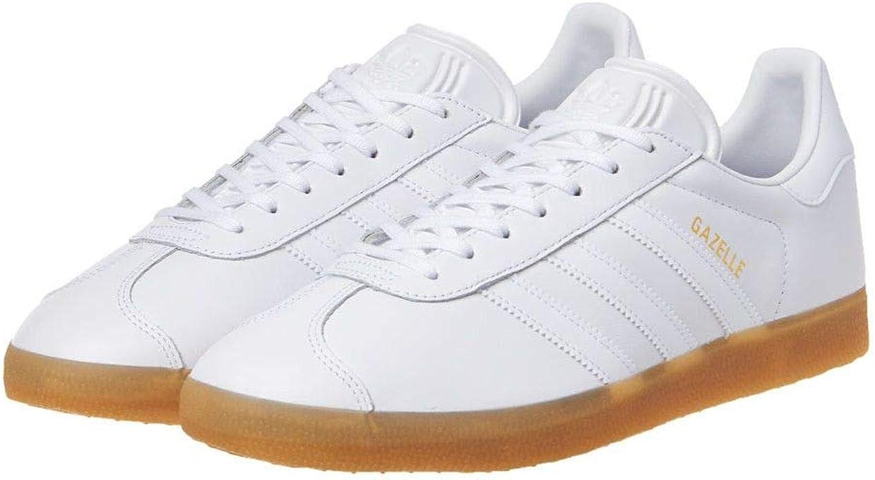 adidas gazelle white leather mens