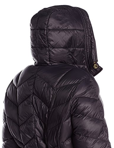 Ellen Chevron Women's Outerwear Tracy Plus Down Mid Length Size Packable Black Coat r0qrfTR
