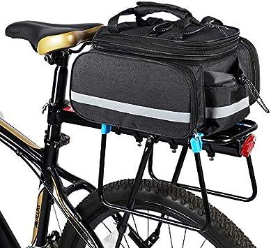 Lixada Bolsa Trasera Bicicleta Impermeable Gran Capacidad Alforja Portaequipajes para Bicicleta de Montaña: Amazon.es: Deportes y aire libre