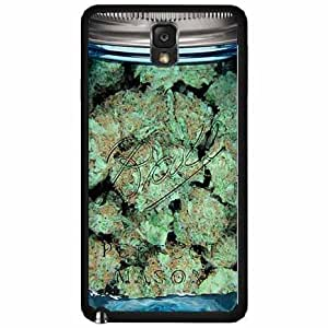 Clear Weed Mason Jar TPU RUBBER SILICONE Phone Case Back Cover Samsung Galaxy Note III 3 N9002