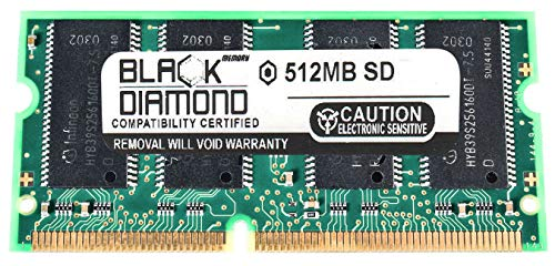 512MB Memory RAM for Dell Inspiron 2600, 4100 1.0G, 4100 1.1G, 4100, X200 144pin PC133 133MHz SDRAM SO-DIMM Black Diamond Memory Module Upgrade