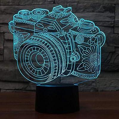 BFMBCHDJ Novedad Lámpara 3D Cámara Ilusión LED Lámpara USB Táctil ...