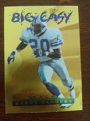 Gold Penn State Nittany Lions Football - Barry Sanders #236/3,100 - 1996 Collector's Edge - Big Easy - Gold Foil #7 - Detroit Lions / Oklahoma State Cowboys