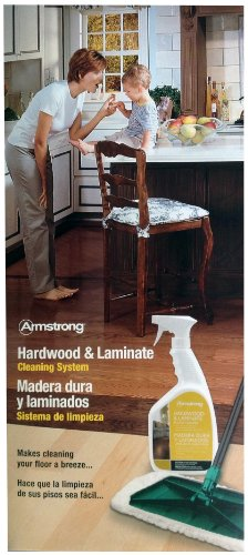 Armstrong Hardwood and Laminate Cleaning System With Spray Cleaner, Mop and Cloth Mop Cover Kit