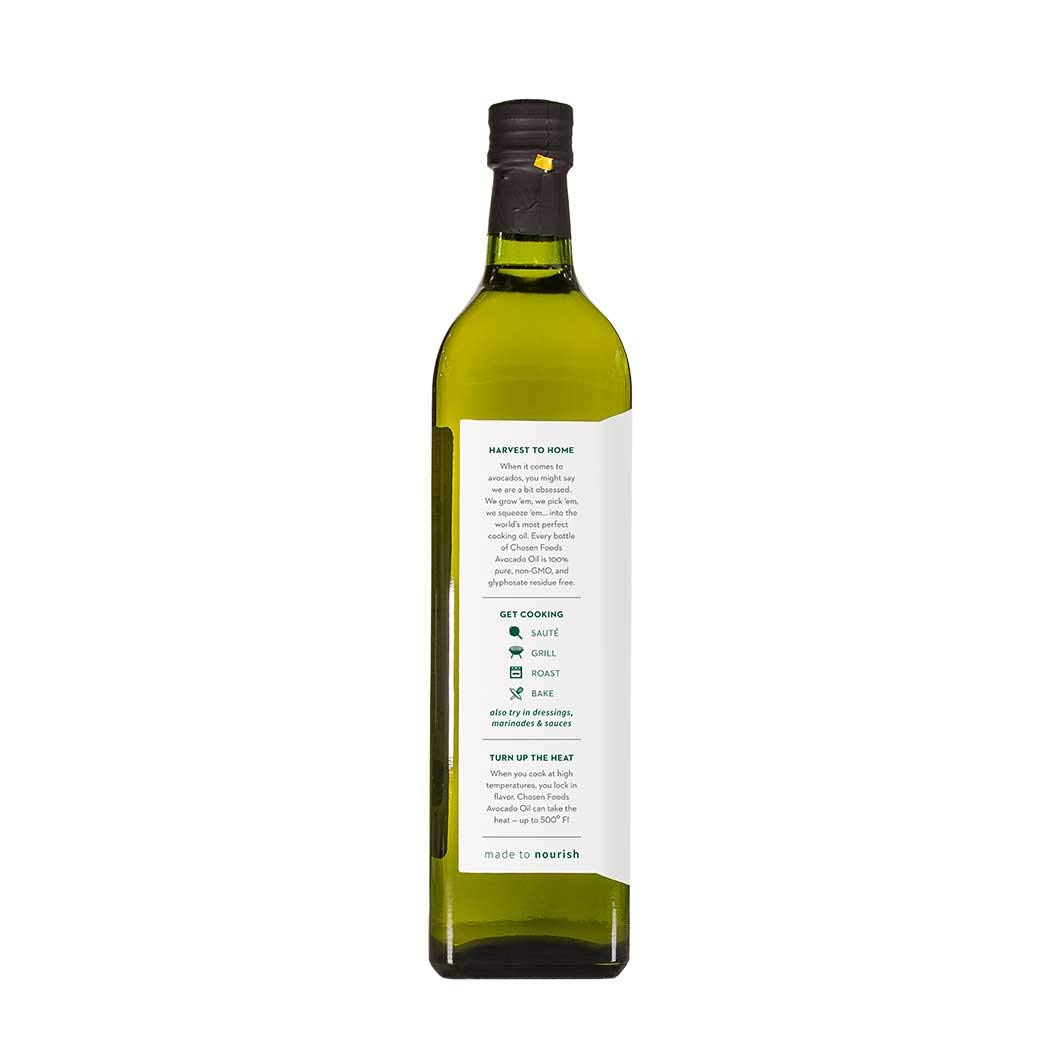 Chosen Foods 100% Pure Avocado Oil 1 L (3 Pack), Non-GMO, for High-Heat Cooking, Frying, Baking, Homemade Sauces, Dressings and Marinades by Chosen Foods (Image #3)