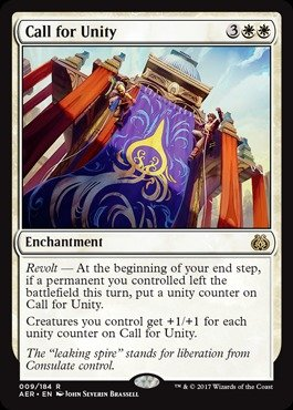 Magic: the Gathering - Call for Unity (009/184) - Aether Revolt
