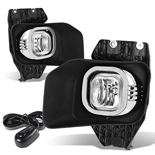 (For Ford F-250/350/450/550 Super Duty Bumper Driving Fog Lights + Wiring Kit + Bezel + Switch (Chrome Lens))