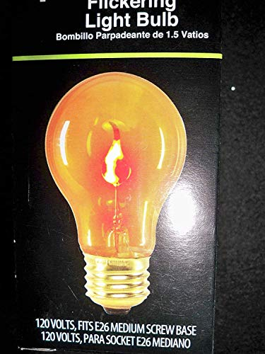 Flickering Light Bulb Orange 1.5 Watt Almost Looks Like Flames Perfect for Christmas Time for $<!--$9.99-->