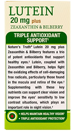 Nature's Truth Lutein 20 mg Plus Zeaxanthin and Bilberry Capsules, 39 Count by Nature's Truth (Image #4)