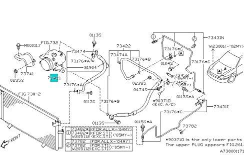 2002-2007 Subaru WRX STi Impreza A//C Pressure Discharge Hose NEW 73421FE001 OEM