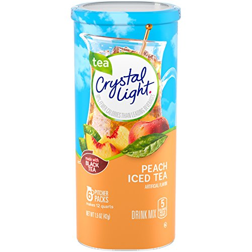- Crystal Light Peach Tea Drink Mix (72 Pitcher Packets, 12 Canisters of 6)