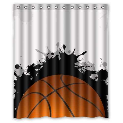 Amazon Fashion Basketball Is World Cool Design Shower Curtain 60x72 New Waterproof Polyester Fabric