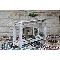 WHITE Farmhouse Console Table 46