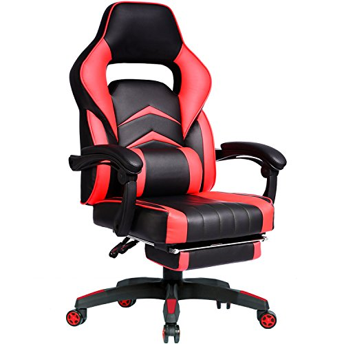 51XECFbo3rL - GTracing-High-Back-Ergonomic-Gaming-Chair-Racing-Chair-Napping-Computer-Office-Chair-With-Padded-Footrest-RED2