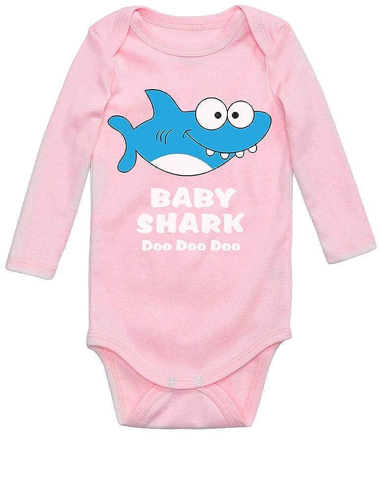 Body de Manga Larga para beb/é Baby Shark Doo Doo Doo Regalo para Beb/és