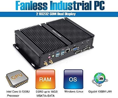 histton Fanless Mini PC, ordenador de sobremesa Intel Core i3 ...