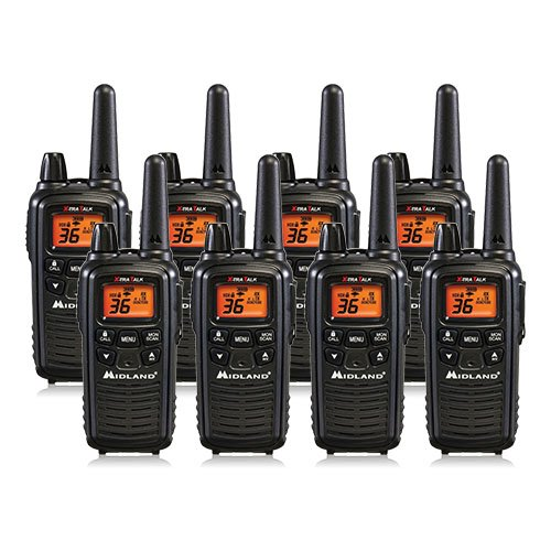 Midland LXT600VP3 FRS/GMRS 2-Way Radio Up to 26-Miles 36 Channels 8 PACK