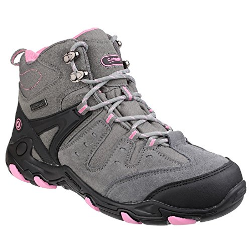 Cotswold Womens/Ladies Coberley Waterproof Leather Walking Boots Grey / Pink