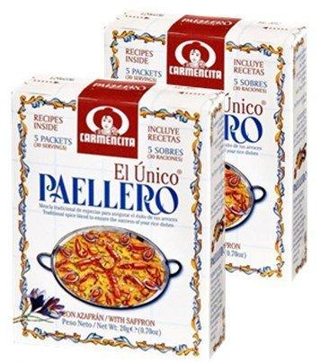 Paellero Carmencita . 2 boxes, 10 envelopes total
