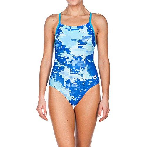 Arena Women's Molt Light Drop Back One Piece Swimsuit, Turquoise, Size 30