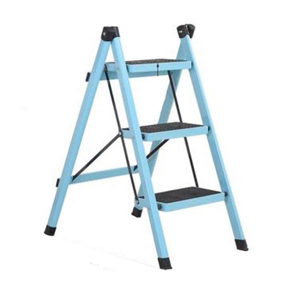PENGFEI 折りたたみステップチェア 多機能 3ステップ ヘリンボーンラダー 家の改築 靴箱 フラワースタンド 滑り止め ペダル 金属、 7色 脚立 踏み台ステップ チェア (色 : ライトブルー, サイズ さいず : 40x70x82CM) B07DLYSQ8N 40x70x82CM|ライトブルー ライトブルー 40x70x82CM