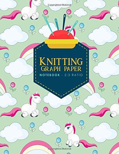 Read Online Knitting Graph Paper Notebook - 2:3 Ratio: Knitters Journal, Knitting Design Grid, Knitting Graphs, Cute Unicorns Cover (Volume 70) pdf
