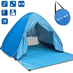 Amazon Com Augymer Beach Tent Uv Pop Up Sun Shelter