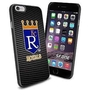 MLB, Kansas City Royals Baseball Carbon Fiber BG iphone 5c Smartphone Case Cover Collector iPhone TPU Rubber Case Black