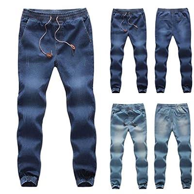Realdo Clearance Sale, Casual Men's Denim Elastic Draw String Work Trousers Jeans Pants