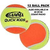 Gamma Quick Kids 60 Ball (12/Pack, Orange/Yellow)