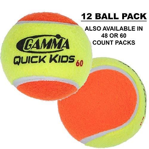 (Gamma CFSTB00 Sports Kids Training (Transition) Balls, Yellow/Orange, Quick Kids 60, 12-Pack)