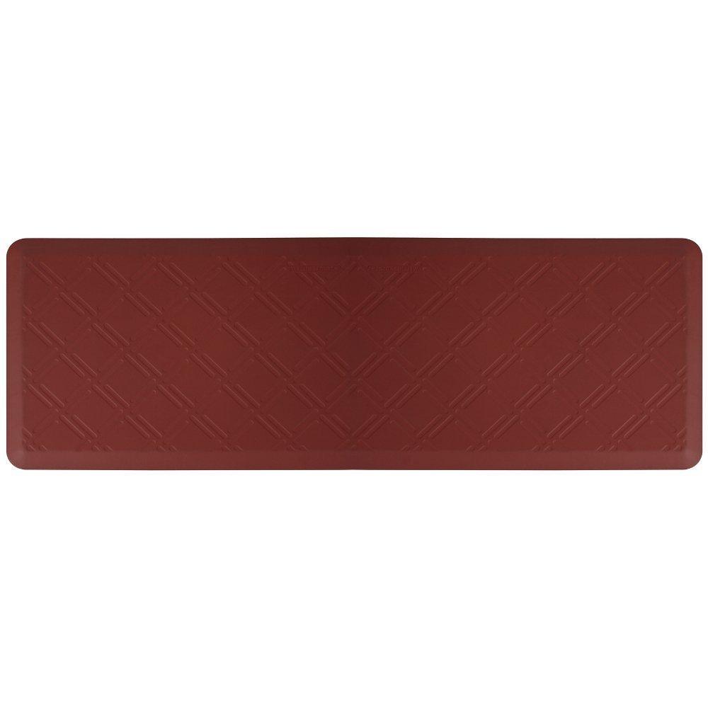 WellnessMats Moire Burgundy Motif Mat, 72 x 24 Inch