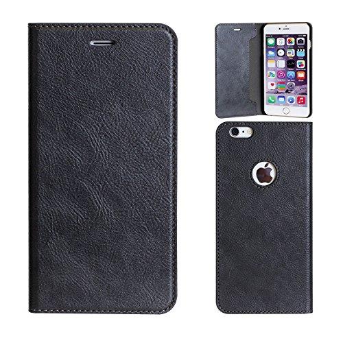 Magnétique Type Clip Case Diary pour iPhone 6 Plus (Charcoal Black) [Electronique]