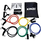 Kinzi Resistance Band Set with Door Anchor, Ankle Strap, Exercise Chart & Resistance Band...