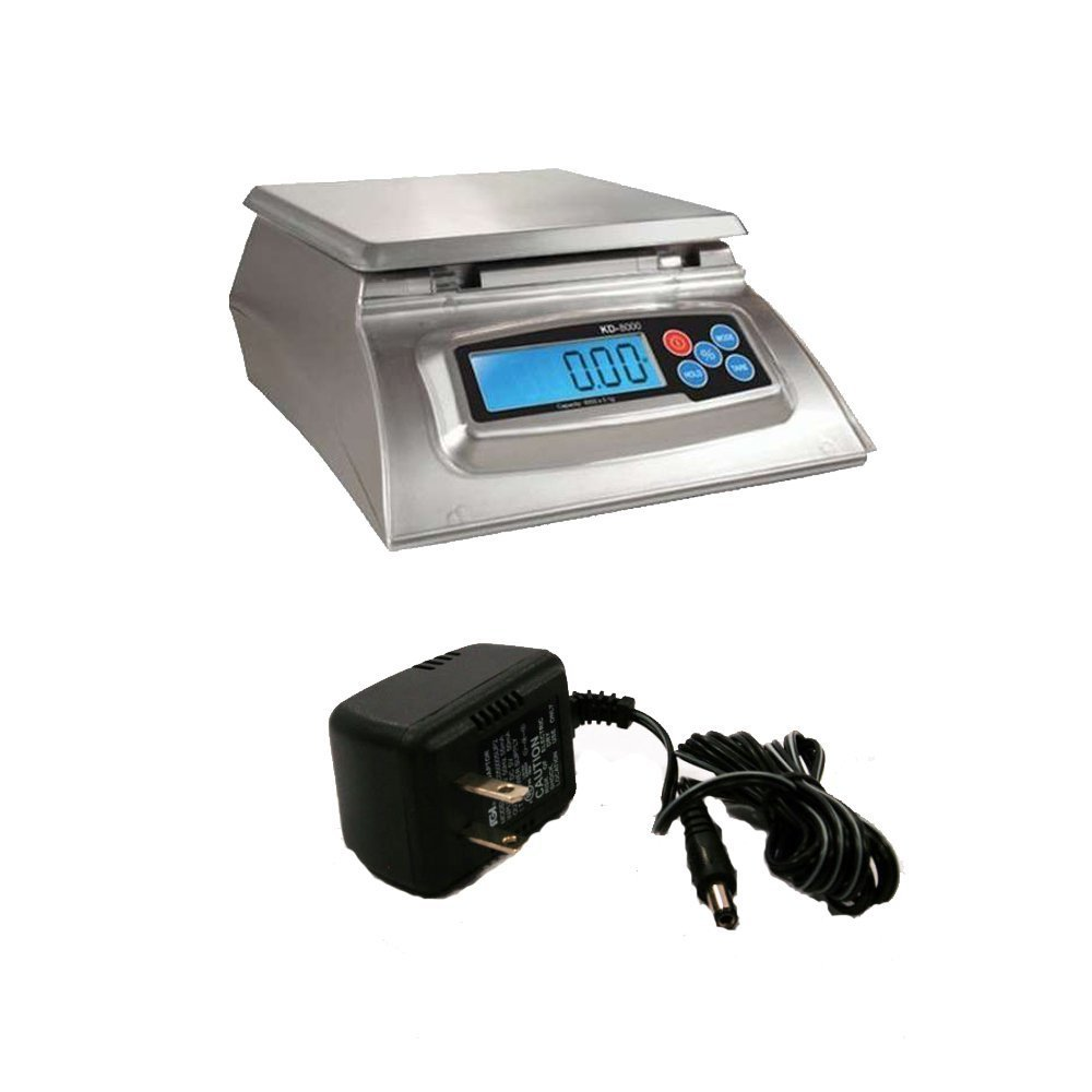 My Weigh KD-8000 Kitchen And Craft Digital Scale & AC Adapter by My Weigh
