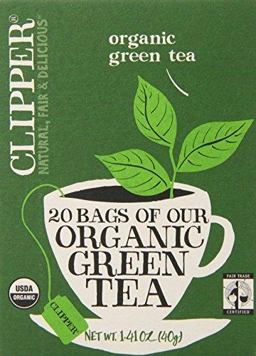 Clipper Fair Trade Organic Green Tea, 20-Count (Pack of 6)