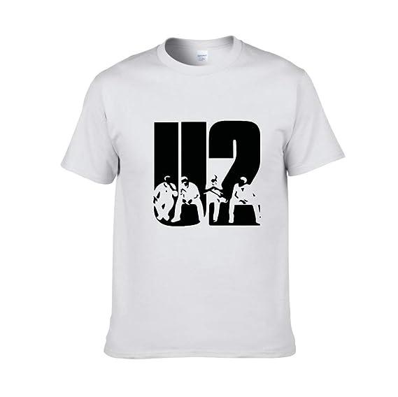 JJZHY Berlin Rock Band U2 Band Verano Algodón Cuello Redondo Camiseta Suelta Unisex 6 Colores: Amazon.es: Deportes y aire libre