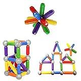 BMAG Magnetic Balls and Sticks Set , Magnet Building Blocks Tiles Rods , STEM Stacking Toys for Preschool Kids 46 PCS